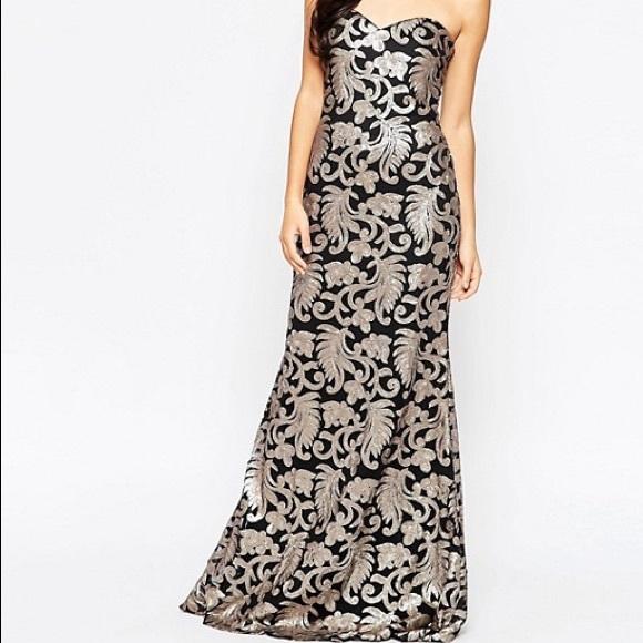 8ab8c3c8abd50 Forever Unique Dresses | Fontanne Bandeau Maxi Dress | Poshmark